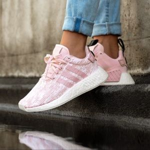 New Adidas NMD_R2 W Ash Pink, Crystal & White